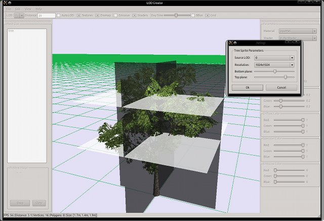 LOD Creator - Example of generating tree sprite model.