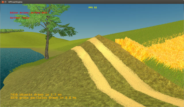 Road geometry fits even complex terrain height profile.